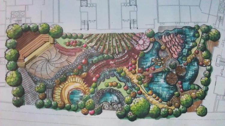 手绘景观效果图平面图|绘画习作|插画|iamdouble2