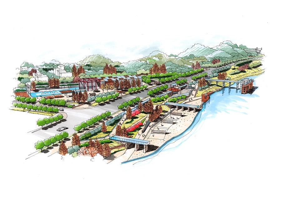 景观马克笔手绘表现|景观设计|空间|pengbobo - 原创