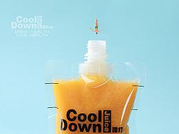 CoolDown酷打果吧-MINILOOK果汁饮品海报缩微摄影