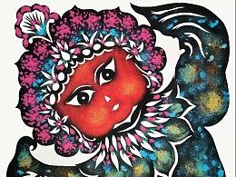 红红火火唱大戏--郭秀丽原创写意戏曲人物彩色剪纸系列