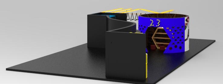 服装展厅设计(作业)|空间|展示设计 |画上的西瓜