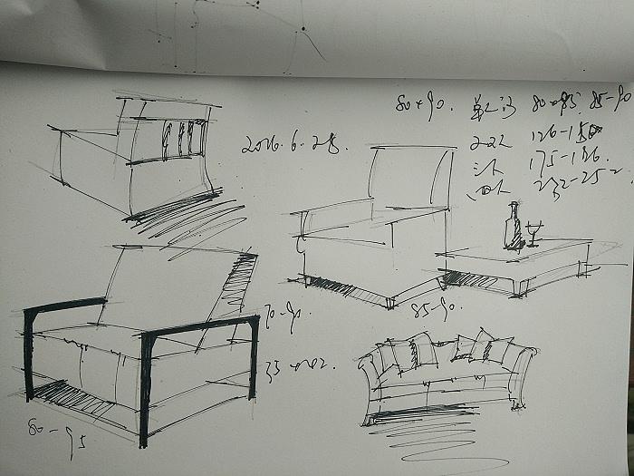 沙发单体线稿a