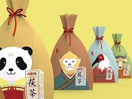 秦岭四宝-茯茶  包装设计