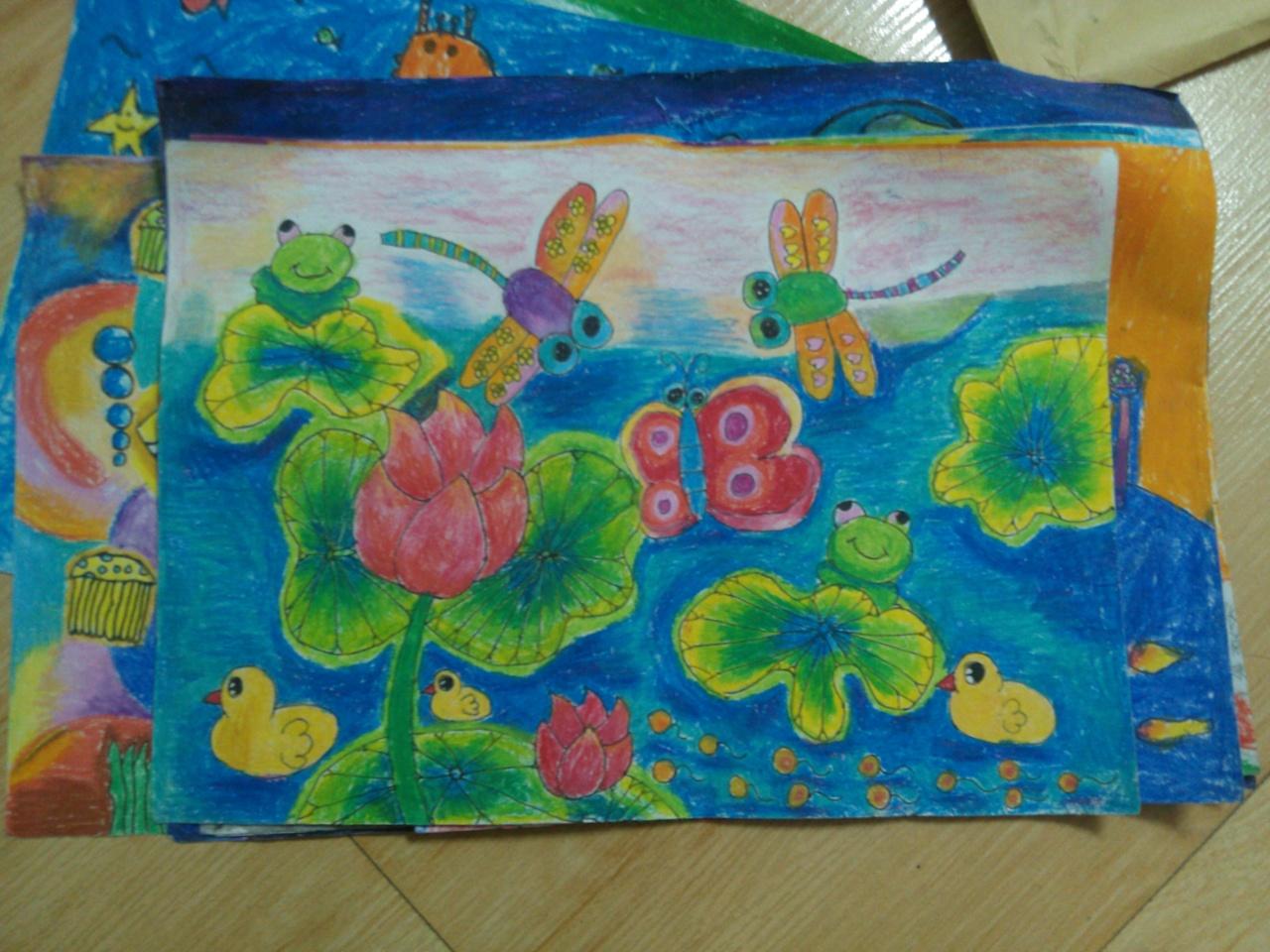 全国十三届少儿美术大赛---亲民小学学生作品图片