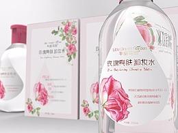卸妆水包装-包装设计-包装瓶-包装盒设计-手绘包装