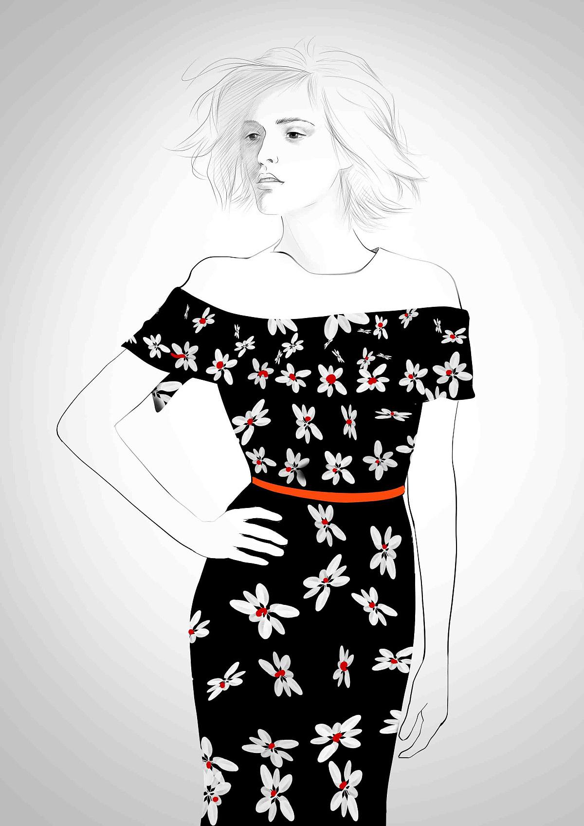 时尚衣服图片大全手绘