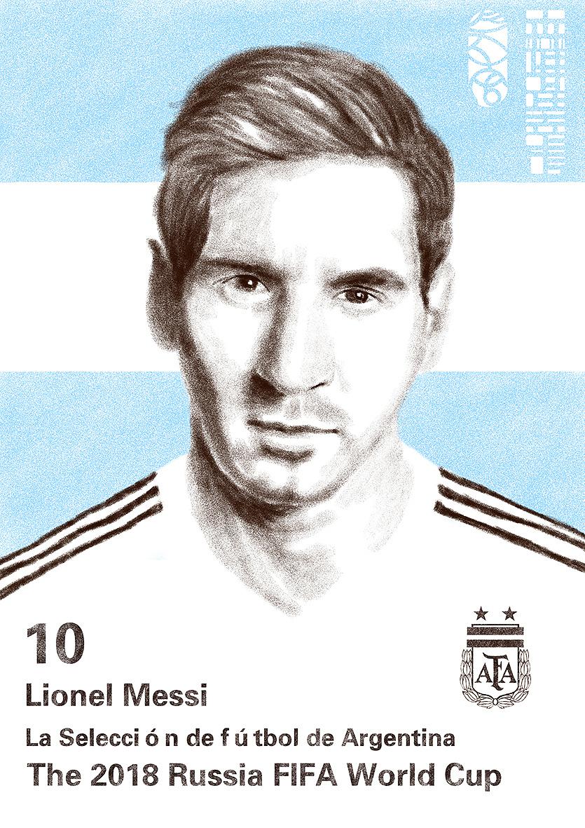2018年世界杯绘画系列--巡礼潘帕斯雄鹰阿根廷
