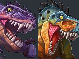 给TAW画的几条原始巨兽