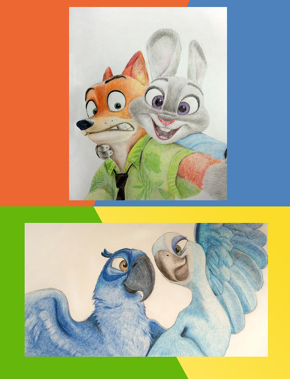 彩铅手绘|插画|插画习作|小羽毛lucie - 原创作品
