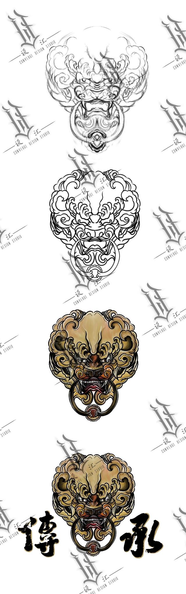 【设汇】原创唐狮子 hiphop 街舞 中国风服饰及制作过程
