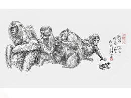 线相系列—钢笔画·2018-1