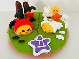 西贝满满-十二星座花馍蛋糕造型设计