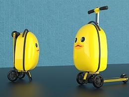 儿童箱包滑板车