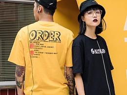 RELNLEX欧美街舞嘻哈宽松百搭短袖男女日系学生tee体恤