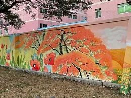 东莞凤岗镇凤平南路段外墙壁画完工