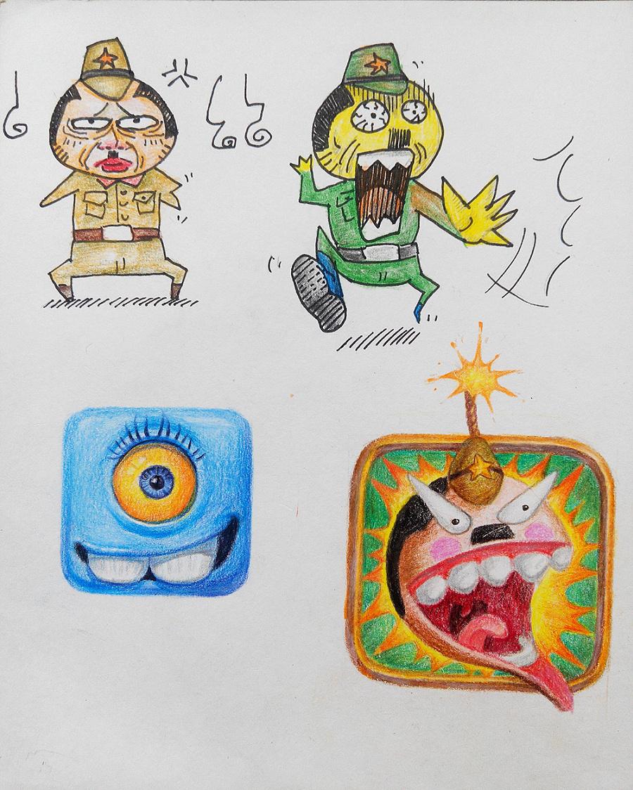 彩铅手绘|绘画习作|插画|饭菜翔