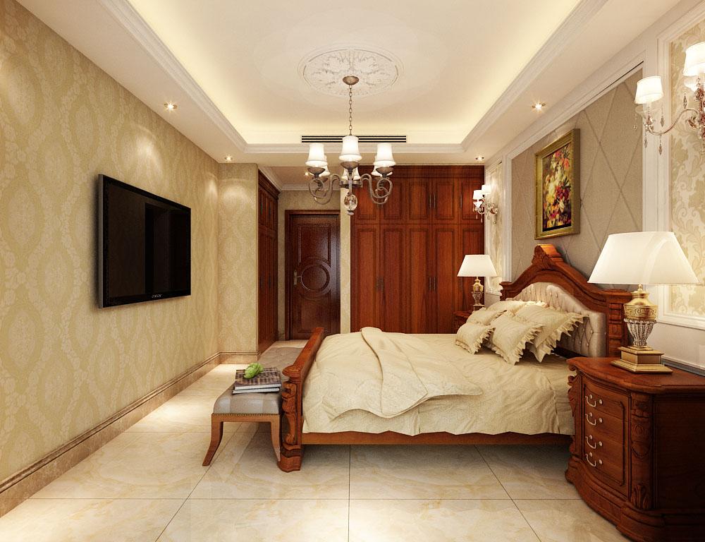东胜紫御府5号楼170㎡三室两厅欧式装修效果图案例图片