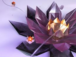 C4D渲染作品--未来植物晶莲