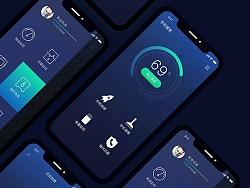 APP手机管家UI视觉重设+交互设计