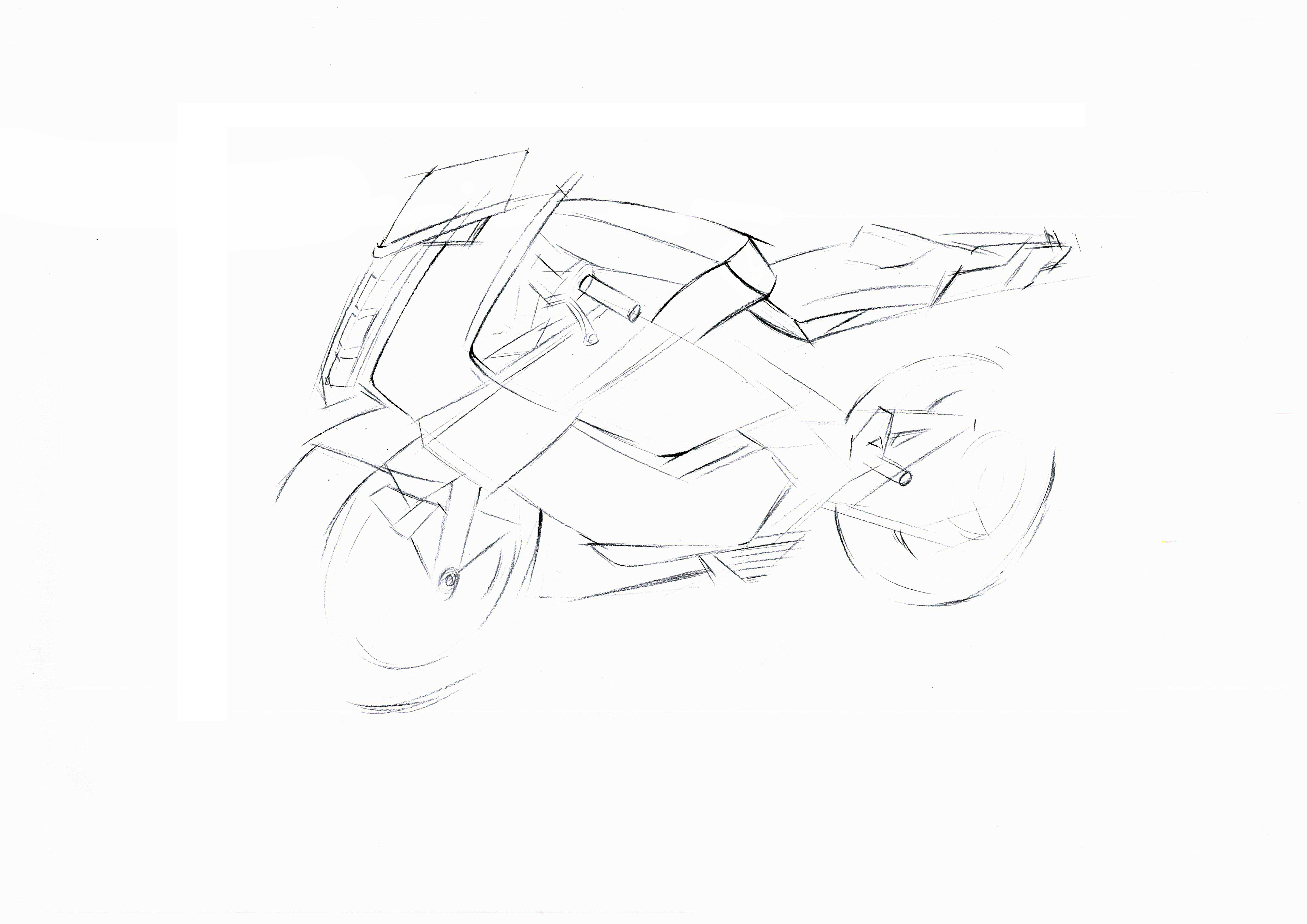 摩托车手绘步骤图