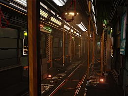 体素——MagicVoxel渲染场景《地铁》
