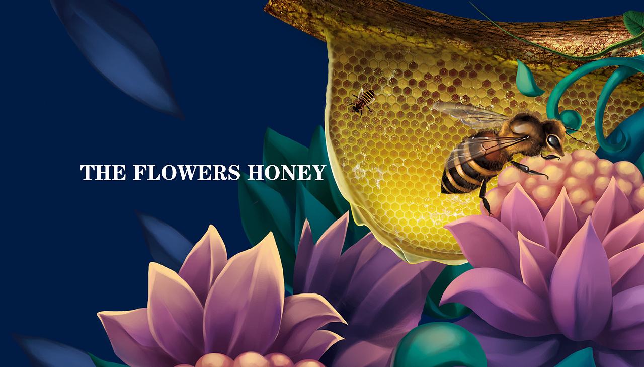 《山水蜜境》蜂蜜礼盒包装设计欣赏