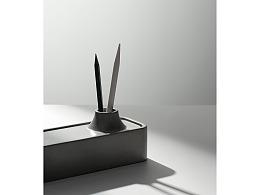 尘市集|水泥长条笔盒独特造型桌面收纳混凝土原创设计
