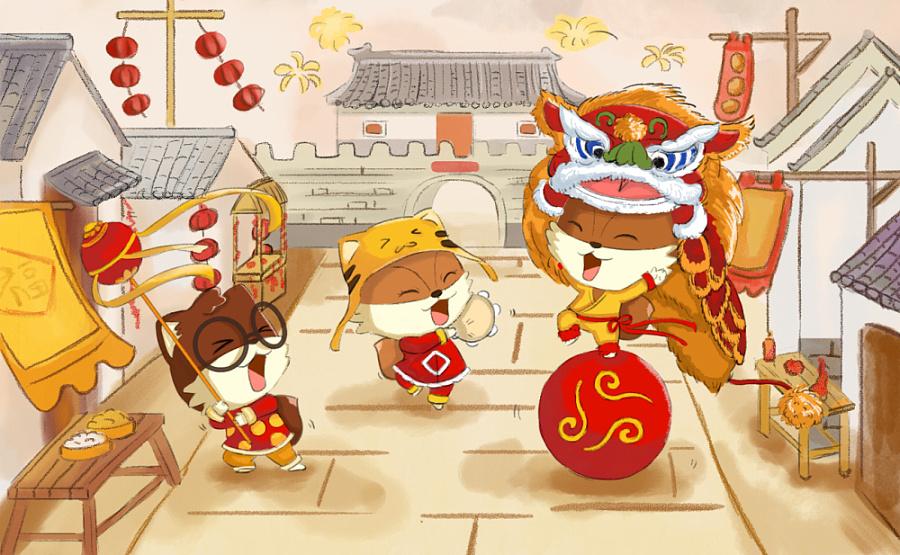 三只松鼠  商业插画 插画 白玉小楼