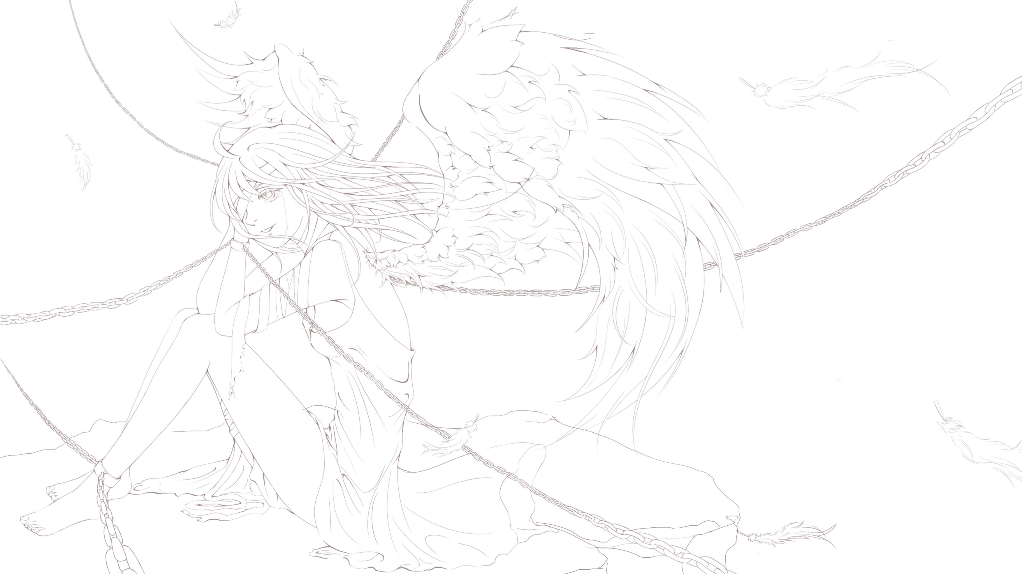 天使简笔画大全图片