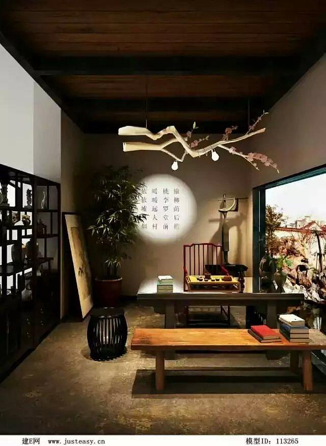 新中式茶室-陇南茶楼装修
