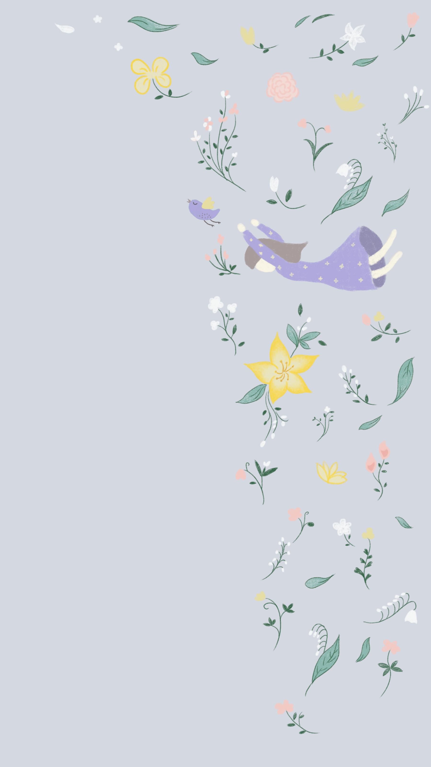 手绘壁纸-编织美梦系列-少女风