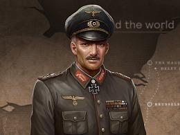 二战陆军将领半身像