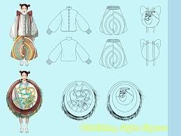 服装设计效果图款式图