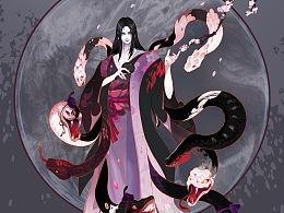 八岐大蛇--花涧蛇影