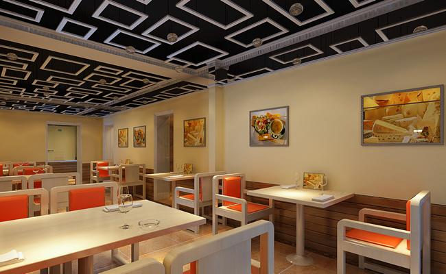 内江快快餐厅设计装修丨内江快餐厅设计餐厅效嵌入式a+设计冰箱案例v嵌入式a+设计图片