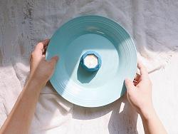 WOODSTONE 彩色水泥烛台/多肉花盆