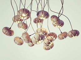 [木修远-花语]原创设计师新中式实木吊灯室内空间软装