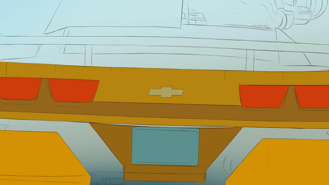 教你ps手绘:变形金刚3 大黄蜂 细致版>
