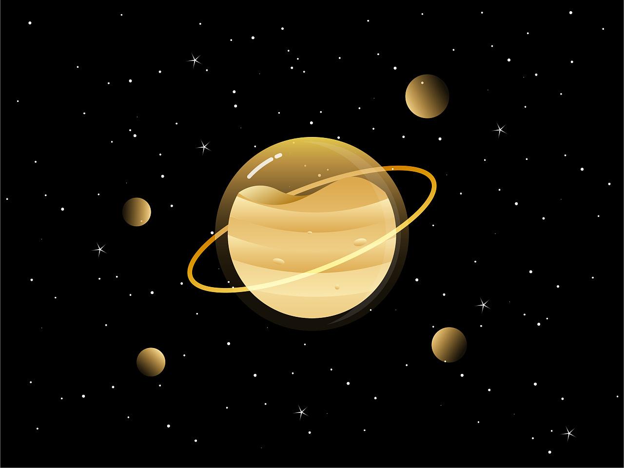 八大行星插画
