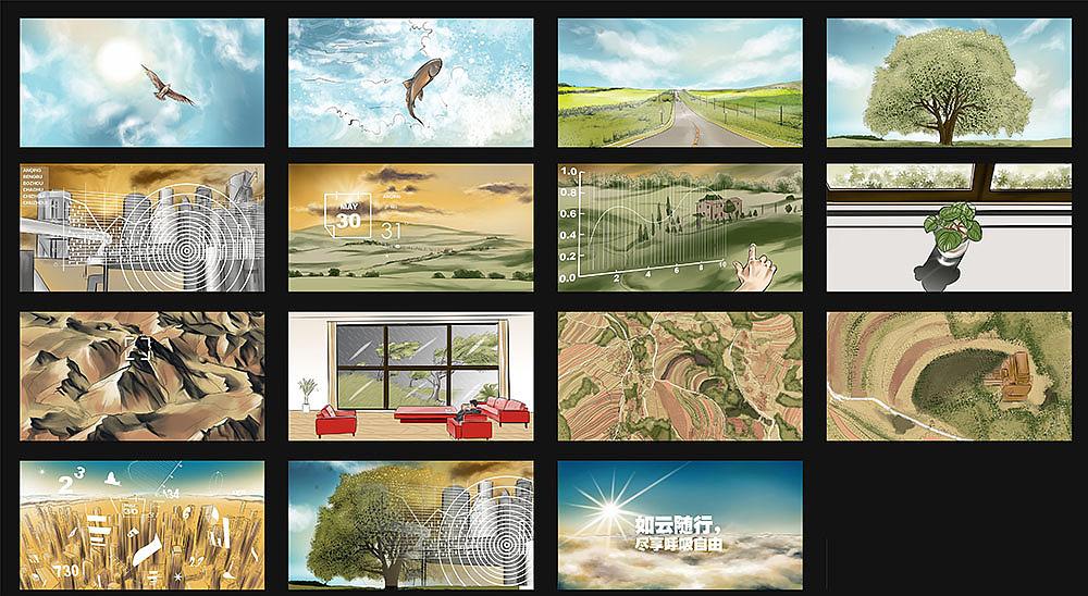 手绘 商业插画 影视 电影 分镜 分镜头故事脚本tvc广告