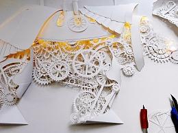 纸雕犀牛+动物世界