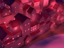 C4D练习——重庆建筑印象