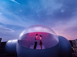 旅拍幕后:极致风光摄影之旅——戈壁星空下的泡泡屋