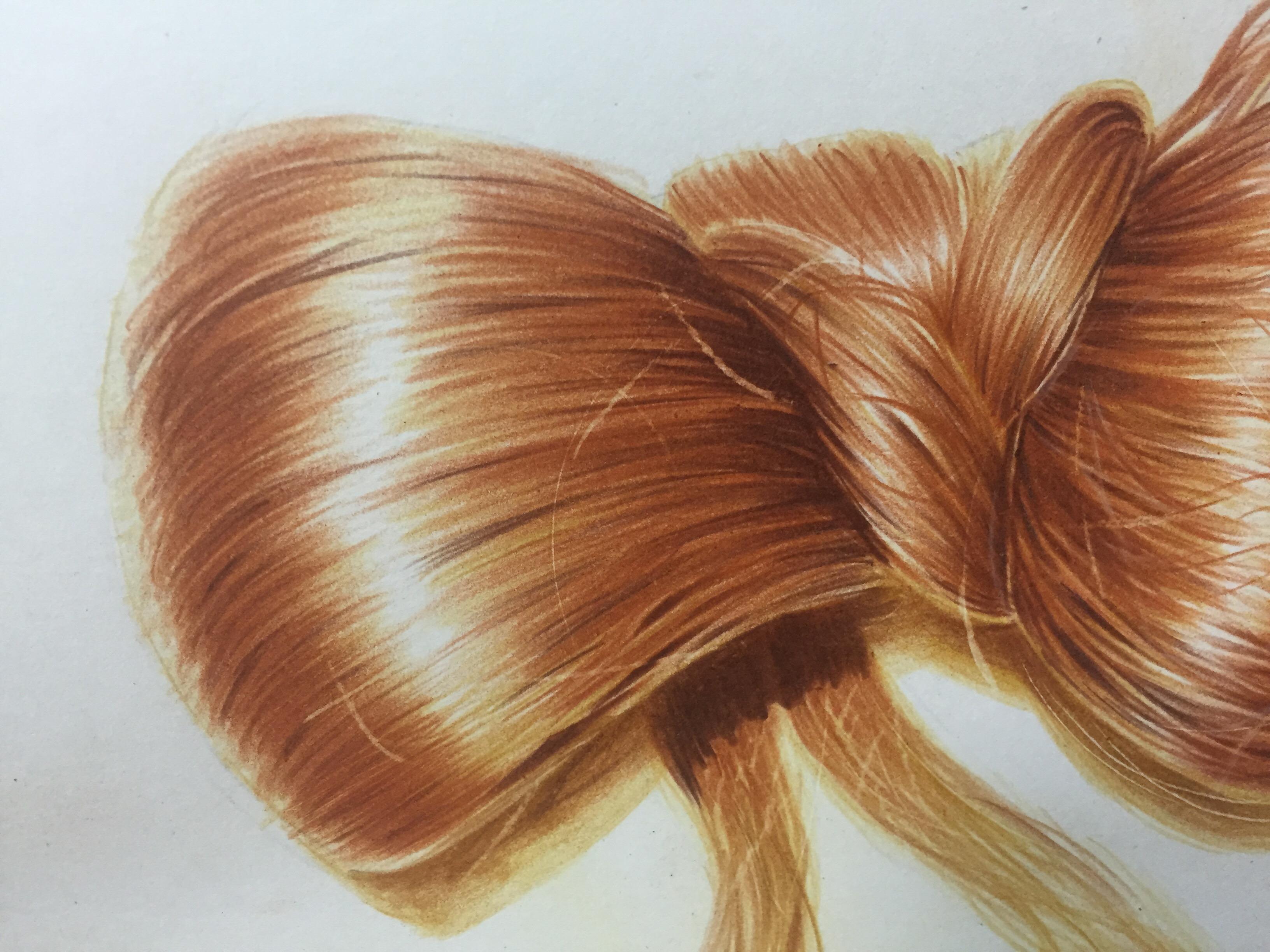 彩铅金色头发图片