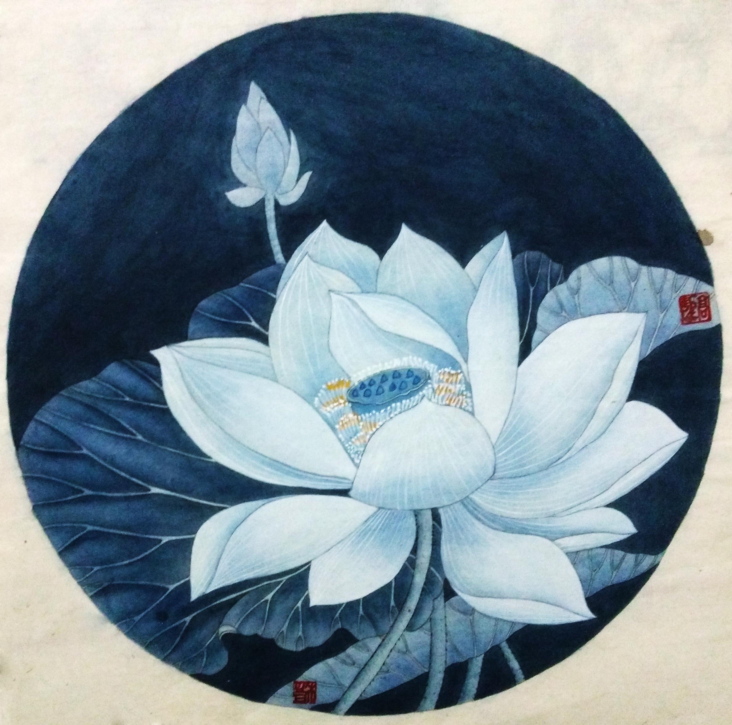 一组花卉工笔小品图片