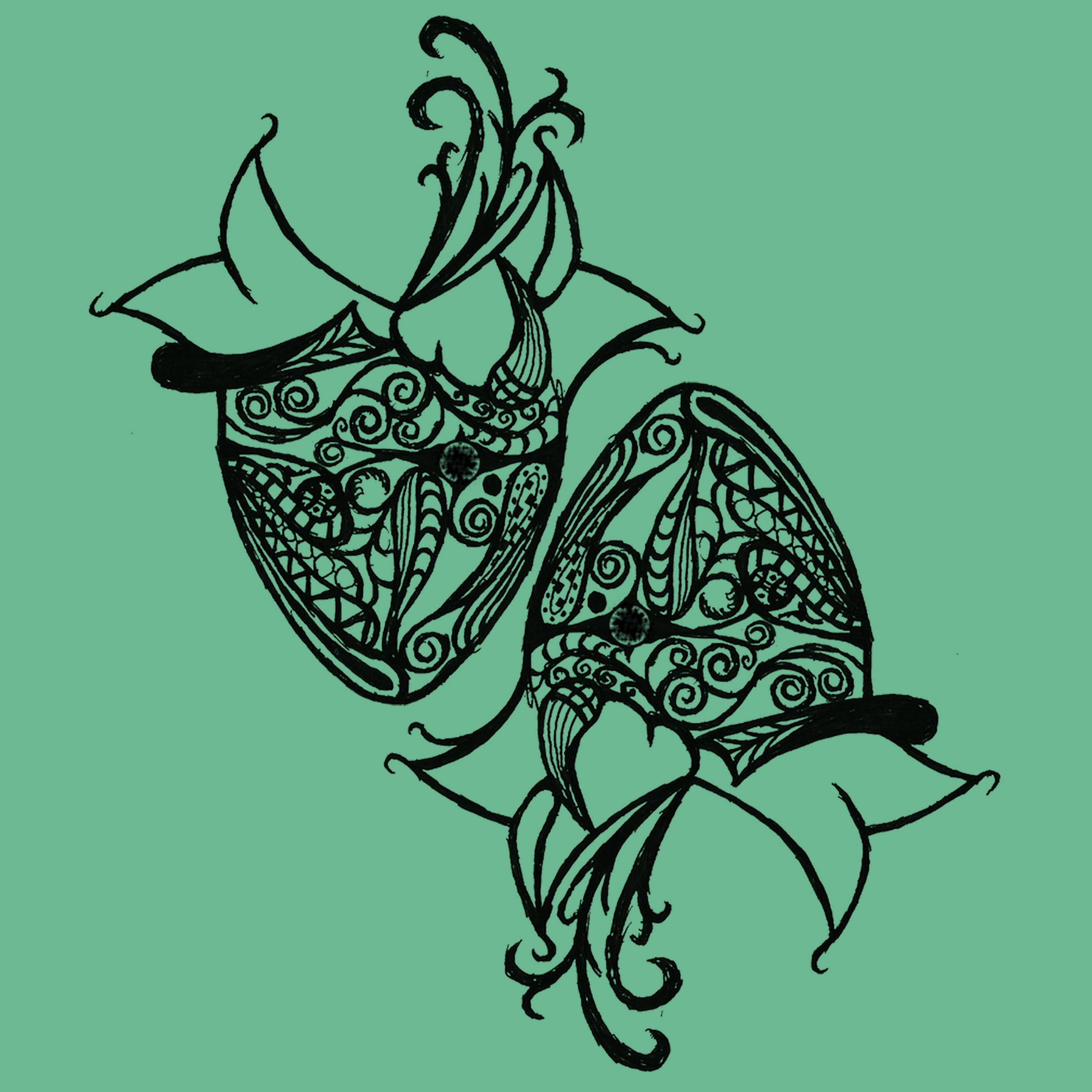 手绘星座|纯艺术|其他艺创|金牛座大余吃小鱼 - 原创