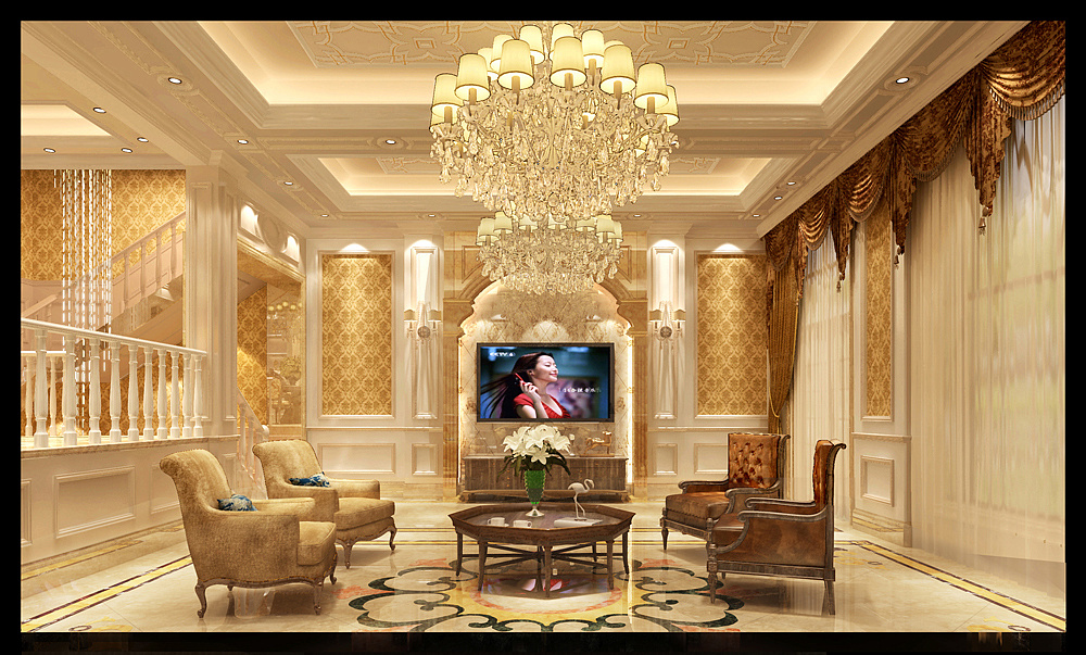 乔治庄园视频|别墅|室内设计|合肥卓域v庄园-原绘制机械零件图的空间图片