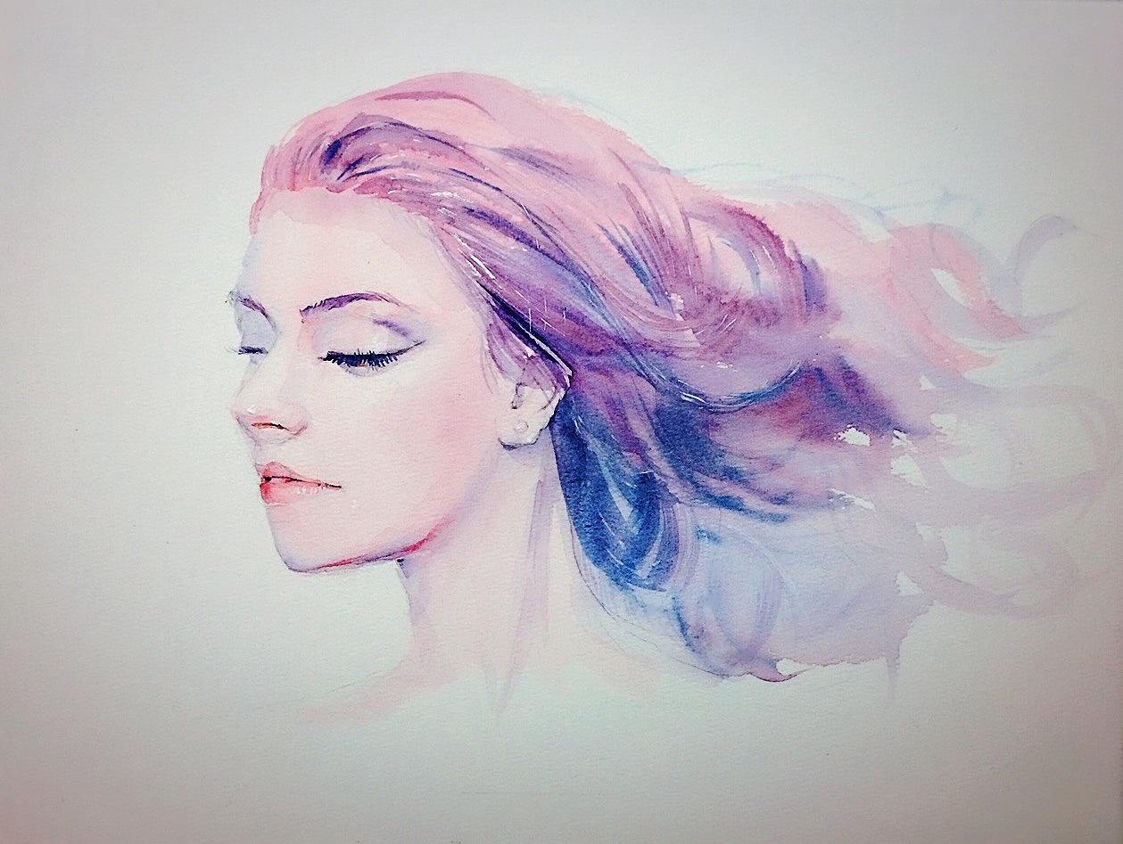 水彩人物插画