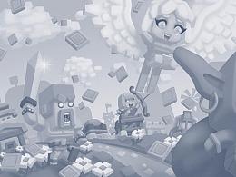 COC同人跑酷游戏界面背景绘制