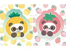 【熊猫软团子】冰冰爽爽的水果夏天